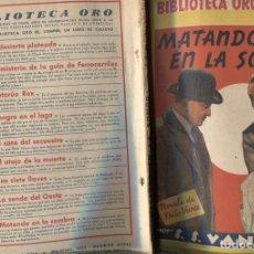Libros: BIBLIOTECA ORO AMARILLA DE 3 PTS NUMERO 124: MATANDO EN LA SOMBRA (FHILO VANCE). Lote 214427266