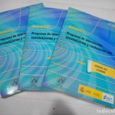 Libros: PROGRAMA DE INTERVENCIÓN, SENSIBILIZACIÓN Y REEDUCACIÓN ( 3 TOMOS) Q2309A. Lote 214733965
