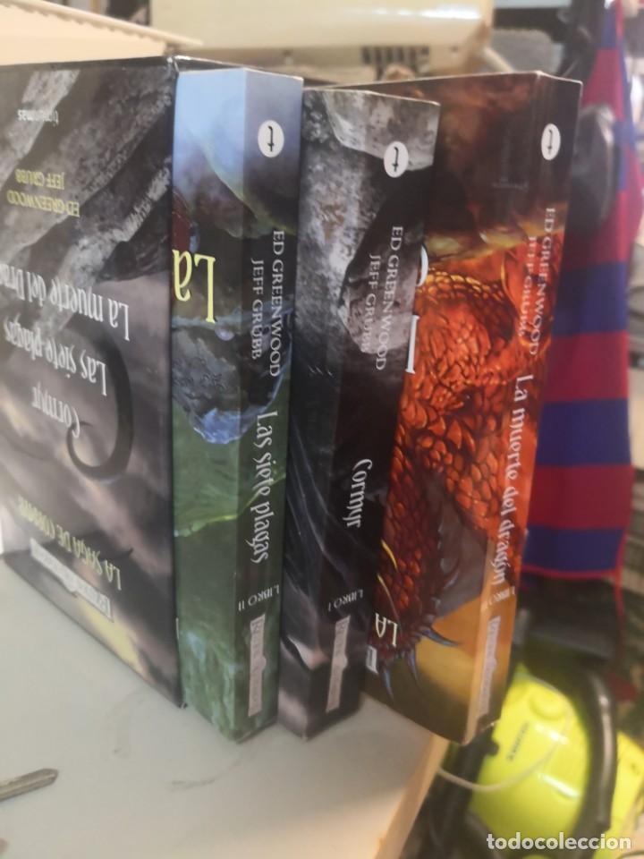 Libros: REINOS OLVIDADOS LA SAGA DE CORMYR 3 TOMOS. Más regalo libro la tabla de los Flandes - Foto 4 - 215259031