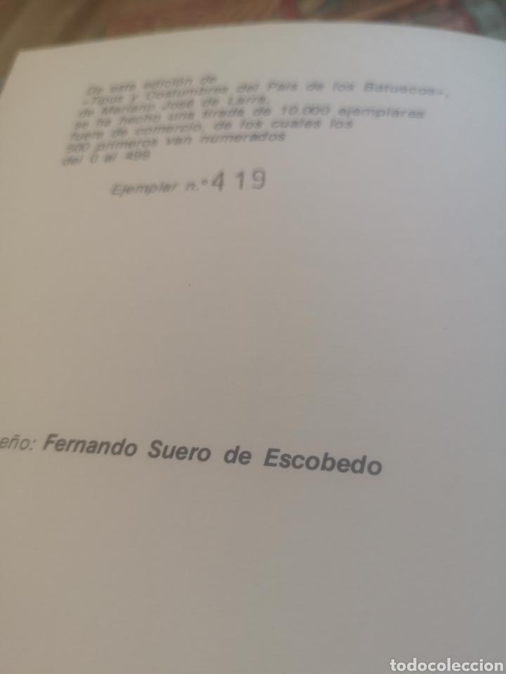 Libros: Tipos y costumbres del país de los Batuecos - de Larra, Mariano José, Edicion numerada 419 de 500 - Foto 2 - 215383025