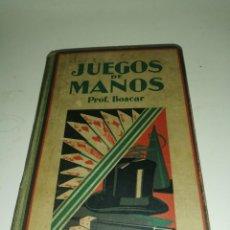 Libros: PROF. BOSCAR - JUEGOS DE MANOS (GUSTAVO GILI, 1931). Lote 217950157
