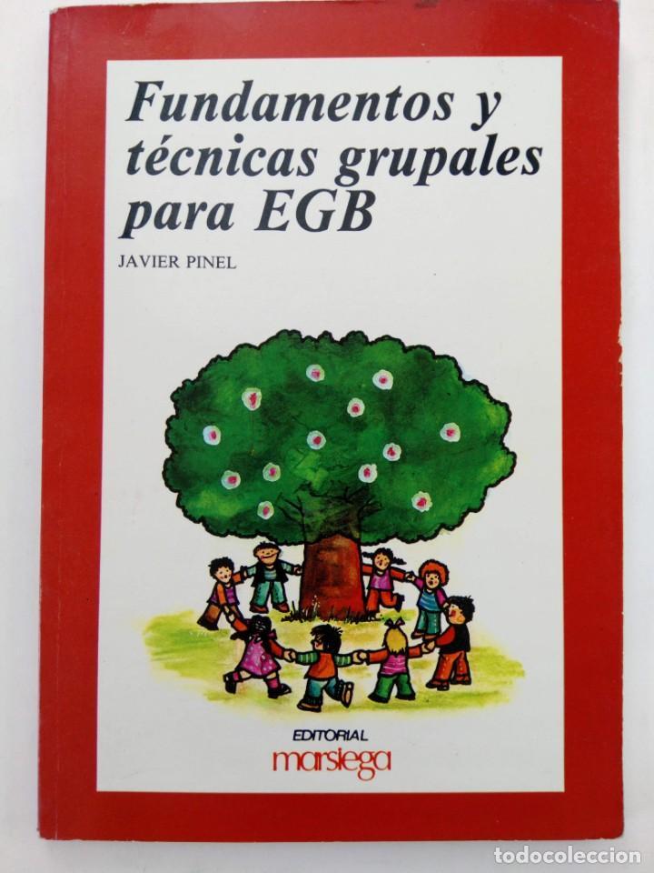 FUNDAMENTOS Y TÉCNICAS GRUPALES PARA EGB - JAVIER PINEL - EDITORIAL MARSIEGA (Libros sin clasificar)
