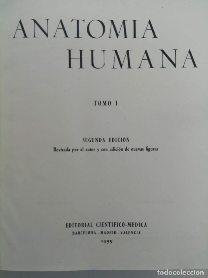 ANATOMIA HUMANA TOMO I - FRANCISCO ORTS LLORCA - EDITORIAL CIENTÍFICO-MÉDICA 1959 (Libros sin clasificar)