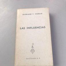 Libros: LAS INFLUENCIAS. Lote 218755921