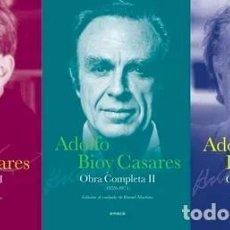 Libri di seconda mano: BIOY CASARES ADOLFO. - OBRAS COMPLETAS DE BIOY CASARES ADOLFO. 5 TOMOS.. Lote 162239964
