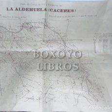 Libros: PLANO DEL CAMPO DE TIRO Y MANIOBRAS DE LA ALDEHUELA (CÁCERES), LEVANTADO POR EL SERVICIO GEOGRÁFICO. Lote 218887372