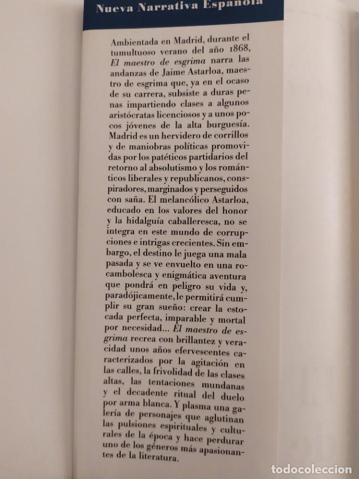 Libros: El maestro de esgrima Arturo Pérez Reverte - Foto 2 - 219227608