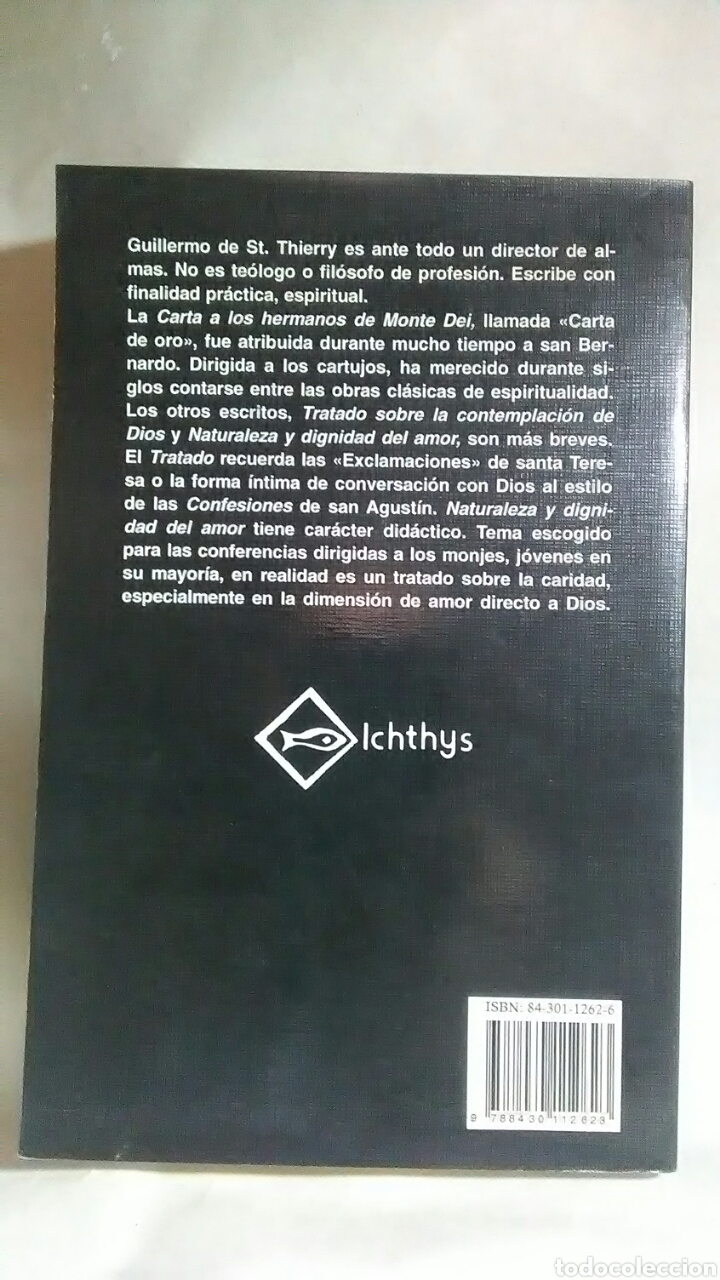 Libros: Carta a los Hermanos del Monte Dei. Guillermo de St.Thyerry. Ediciones Sigueme. - Foto 2 - 219442881