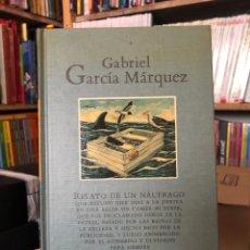 Livros: GABRIEL GARCÍA MÁRQUEZ RELATO DE UN NÁUFRAGO MONDADORI. Lote 219594672