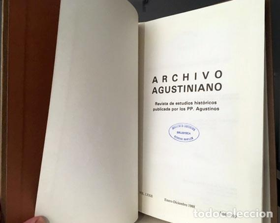Libros: A. Agustiniano: S. Agustín de Manila; Convento de Epila; S Pablo de Manila; M Oriental de Valladolid - Foto 3 - 219855350