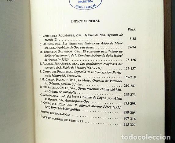 Libros: A. Agustiniano: S. Agustín de Manila; Convento de Epila; S Pablo de Manila; M Oriental de Valladolid - Foto 4 - 219855350