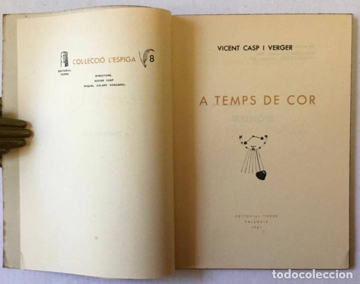 Libros: A TEMPS DE COR. - CASP I VERGER, Vicent. - Foto 2 - 220943460