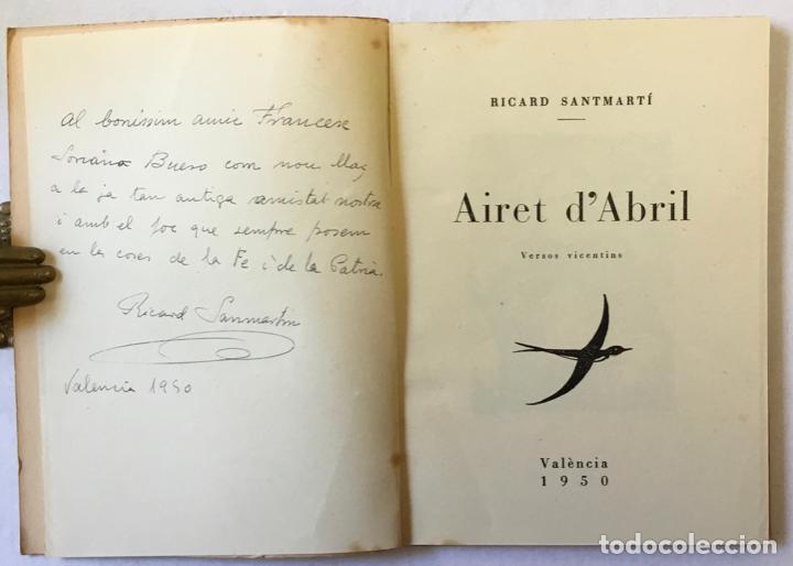 Libros: AIRET DABRIL. Versos vicentins. - SANTMARTÍ, Ricard. - Foto 2 - 220943555