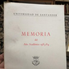 Libros: MEMORIA DEL AÑO ACADÉMICO 1983-84. UNIVERSIDAD DE SANTANDER.. Lote 221370702