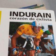 Livres: INDURAIN CORAZON DE CICLISTA BENITO URRABURU. Lote 221595258