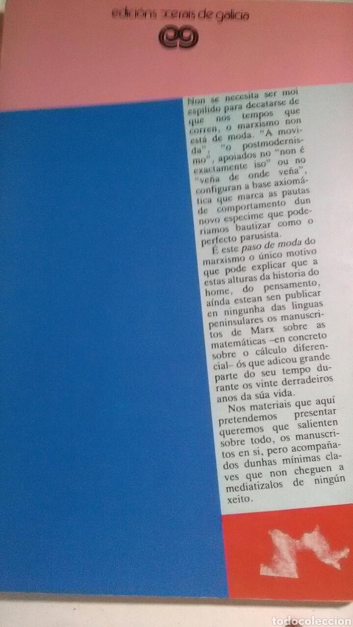 Libros: Karl Marx. Manuscritos matemáticos. Edicions Xerais de Galicia. 1987 - Foto 2 - 245415895