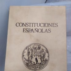 Libros: CONSTITUCIONES ESPAÑOLAS. Lote 221625648