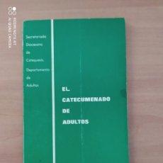 Libros: EL CATECUMENADO DE ADULTO. Lote 221745578