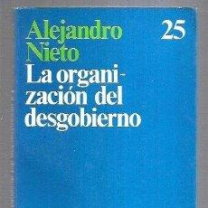 Libros: ORGANIZACION DEL DESGOBIERNO - LA. Lote 221850186