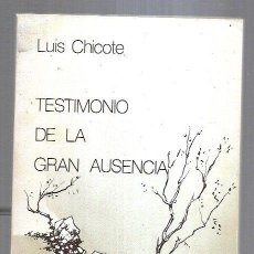 Libros: TESTIMONIO DE LA GRAN AUSENCI. Lote 221850216