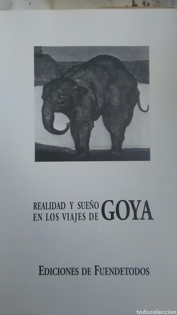 Libros: Goya. Realidad y sueño en los viajes de Goya. Ediciones de Fuentedetodos. 1996 - Foto 2 - 221910448