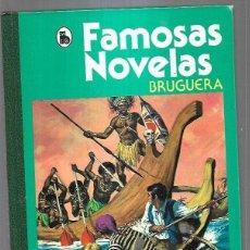 Libros: FAMOSAS NOVELAS 4: HACIA EL ZAMBESI / OJO DE HALCON / DAVY CROCKETT / LAWRENCE DE ARABIA / LA ISLA D. Lote 221982320