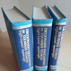 Libros: DICCIONARIO ENCICLOPÉDICO DE TÉRMINOS TÉCNICOS INGLÉS-ESPAÑOL / ESPAÑOL-INGLÉS - VVAA. Lote 222021070