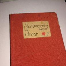 Libros: LIBRO PENSAMIENTOS SOBRE EL AMOR. Lote 222052416