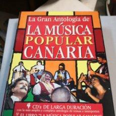 Libros: LA MÚSICA POPULAR CANARIA LA GRAN ANTOLOGÍA DE LA 4 CD Y EL LIBRO. Lote 222236471