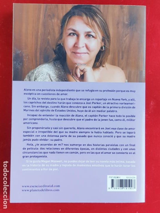 Libros: LIBRO-HOLA ¿TE ACUERDAS DE MI?-MEGAN MAXWELL-ESENCIA-VER FOTOS - Foto 2 - 219465166