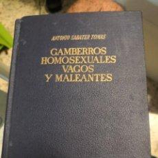 Libros: GAMBERROS, HOMOSEXUALES, VAGOS Y MALEANTES DE ANTONIO SABATER. Lote 222503792