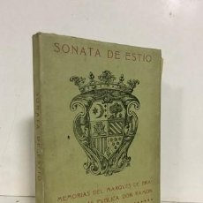 Libros: SONATA DE ESTÍO. MEMORIAS DEL MARQUÉS DE BRANDOMÍN: LAS PUBLICA DON RAMÓN DEL VALLE INCLÁN . - VALLE. Lote 222515027
