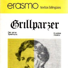 Livres: DER ARME SPIELMANN / EL POBRE MÚSICO - GRILLPARZER, FRANZ. Lote 222529247