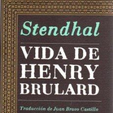 Libros: VIDA DE HENRY BRULARD - STENDHAL. Lote 222529421