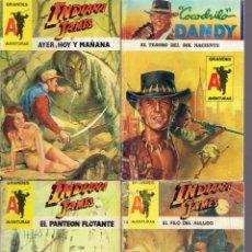 Libros: 7 NOVELAS DE AVENTURAS INDIANA JONES,PIRATAS,COCODRILO DANDY 1989-2002. Lote 222580662