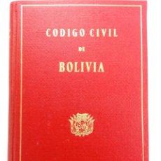 Libros: CÓDIGO CIVIL DE BOLIVIA - INSTITUTO DE CULTURA HIPÁNICA. Lote 222655645