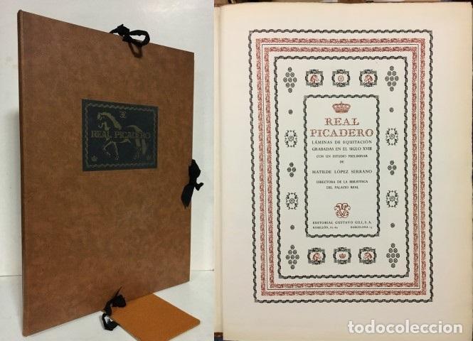 REAL PICADERO. LÁMINAS DE EQUITACIÓN GRABADAS EN EL SIGLO XVIII. CON UN ESTUDIO PRELIMINAR DE MATILD (Libros sin clasificar)