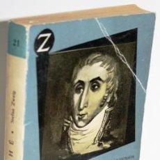 Libros: FOUCHÉ. EL GENIO TENEBROSO - ZWEIG, STEFAN. Lote 222777507
