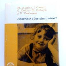 Libros: ESCRIBIR A LOS CINCO AÑOS (VARIOS AUTORES) - PAIDEIA. Lote 222792185