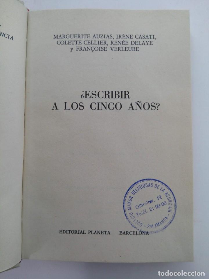 Libros: ESCRIBIR A LOS CINCO AÑOS (VARIOS AUTORES) - PAIDEIA - Foto 2 - 222792185