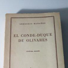 Libri di seconda mano: EL CONDE DUQUE DE OLIVARES - GREGORIO MARAÑÓN - COLECCIÓN AUSTRAL 62 ESPASA CALPE. Lote 222917143