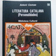Livros em segunda mão: LITERATURA CATALANA (PERSONALIDADES) - ANTONI COMAS - PLANETA. Lote 223008551