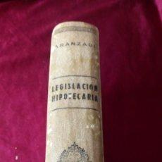 Libros: LEGISLACIÓN HIPOTECARIA. Lote 223444063