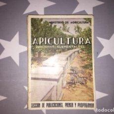 Libri di seconda mano: APICULTURA (NOCIONES ELEMENTALES). MINISTERIO DE AGRICULTURA. Lote 223835575