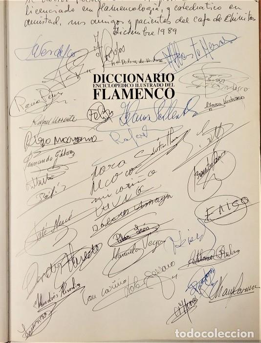 Libros: Firmado y dedicado por grandes artistas del flamenco. Diccionario enciclopédico ilustrado del Flamen - Foto 2 - 195053630