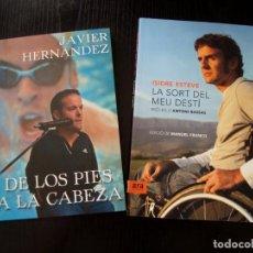 Libros: LOTE DOS LIBROS AUTOAYUDA - ISIDRE ESTEVE Y JAVIER HERNÁNDEZ - IMPECABLES.. Lote 224431146