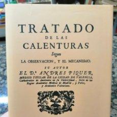Libros: TRATADO DE LAS CALENTURAS. ANDRÉS PIQUER.. Lote 224521152