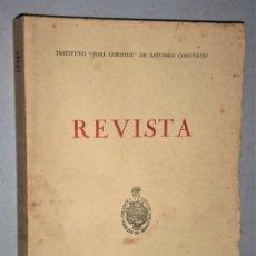 """Libros: REVISTA. INSTITUTO """"JOSE CORNIDE"""" DE ESTUDIOS CORUÑESES. AÑOS VIII-IX. 1972-73. NÚMEROS 8 Y 9. Lote 224687587"""