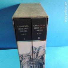 Libros: CATALUNYA CENT ANYS ENRERE (2 VOLS.) RECULL DE 4321 TARGETES POSTALS ANTIGUES DE CATALUNYA. Lote 224726647