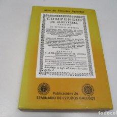 Libros: FERNANDO DE SANDE Y LAGO COMPENDIO DE ALBEYTERIA Q3780T. Lote 224832126